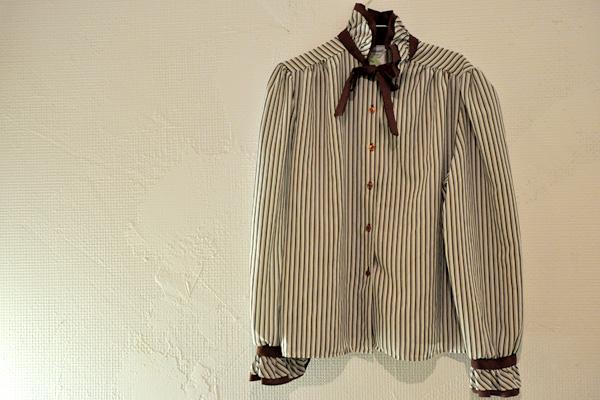 Stripe Bowtie Blouse