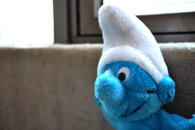 Smurf plush doll