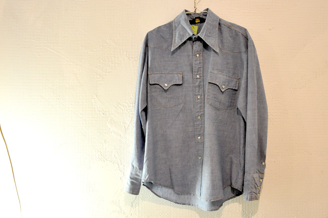 80's sears chambray western shirts