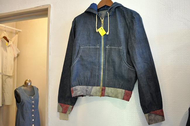 remake denim hoodie