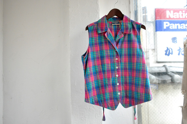 Cotton Check vest