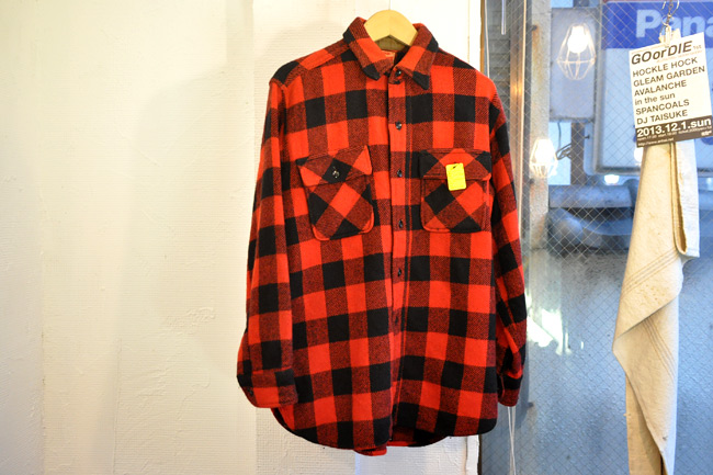 80's Buffalo Check Wool Shirts.