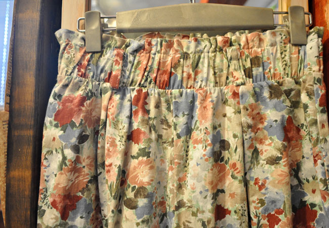 ladies flower print pants