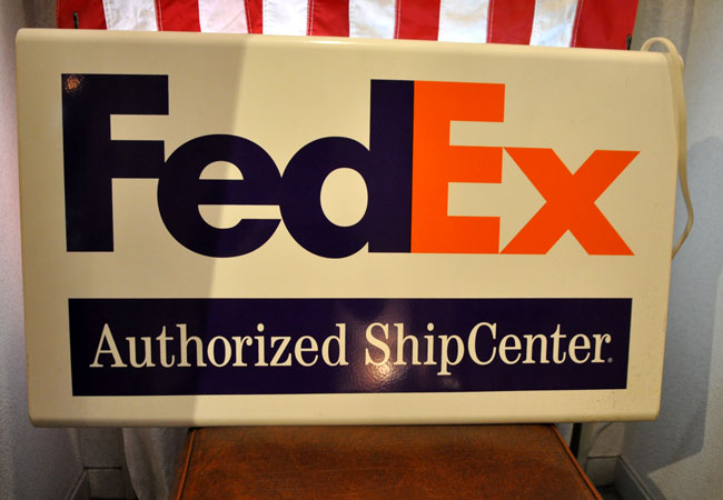fedex sign back