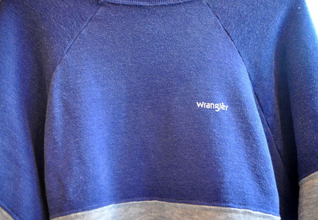 80's wrangler sweatshirts chest