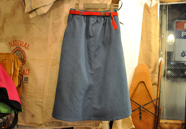 poly-cotton aline skirt