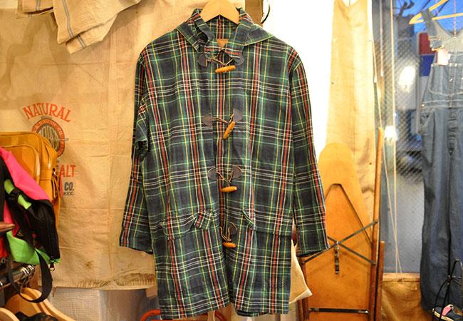 Check Cotton Duffle Coat