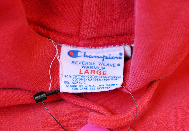 80's Champion Reverse weave tag