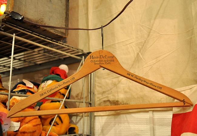 vintage wood hangar