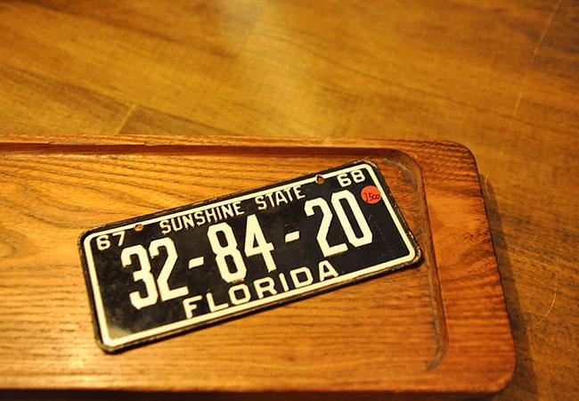 Vintage Charinko Number Plate. 1500yen