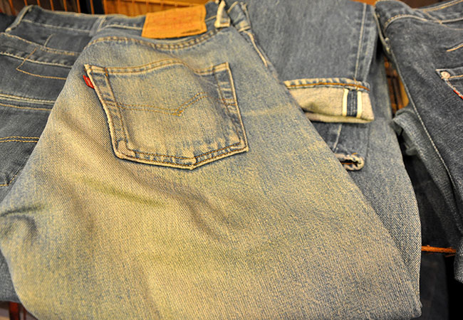 Levi's 501 Red line.