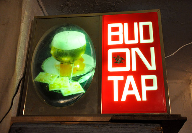 Budweiser Lamp Sign.