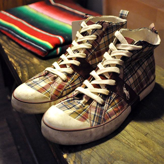 POLO Check Sneaker. 3500yen