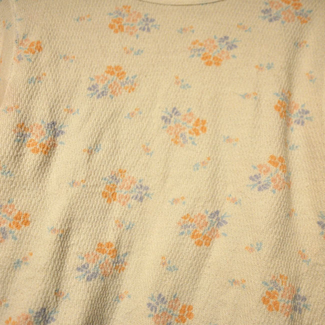 Flower Print Thermal Shirt. 1500yen