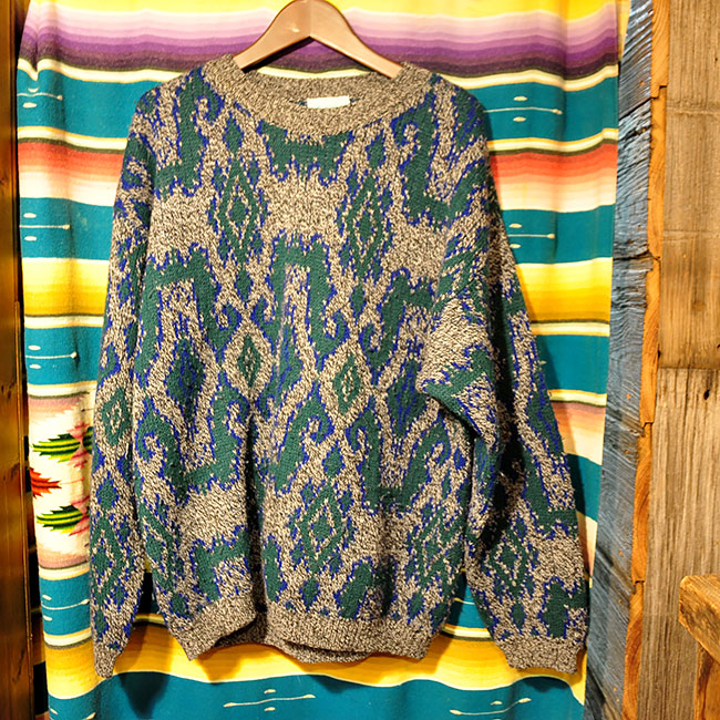 Knit Sweater. Made in ITALY. 3000yen