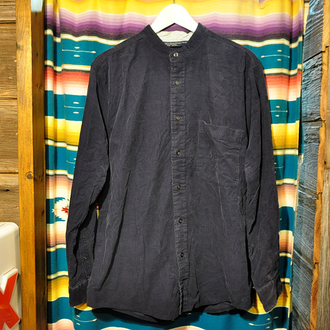 No collar Corduroy Shirts. 3000yen
